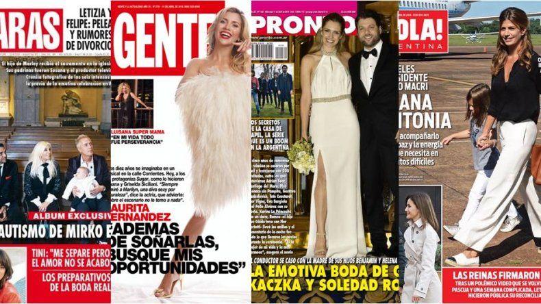 El casamiento de Guido, el desnudo de Laurita Fernández y todas las tapas de la semana