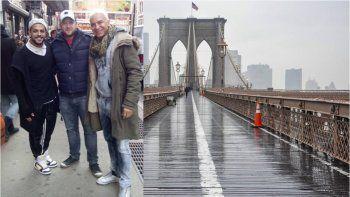 antes de ser papa, flavio mendoza pasea por las calles de new york