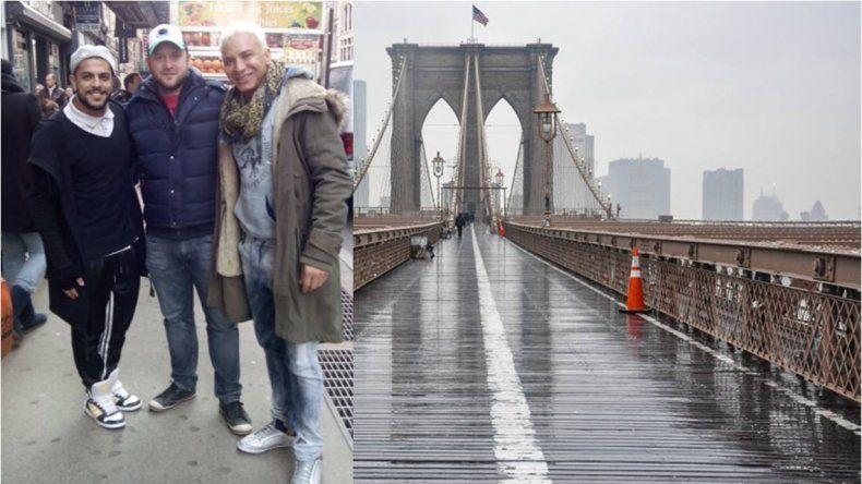 Antes de ser papá, Flavio Mendoza pasea por las calles de New York