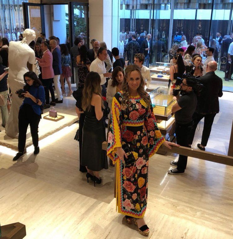En una noche a puro glamour, Natalia Denegri estuvo en la exclusiva cena de Dolce y Gabbana