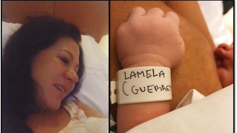Adabel Guerrero fue mamá primeriza de la pequeña Lola: mirá el video cántandole a su beba