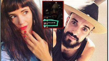 Siciliani le manda besos con corazón a Abel Pintos en una transmisión de Instagram