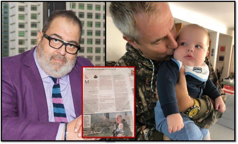 Sorpresiva e insólita crítica de Lanata a Marley por hacer tele con su bebé Mirko: Le están quitando la infancia