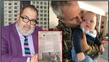 sorpresiva e insolita critica de lanata a marley por hacer tele con su bebe mirko: le estan quitando la infancia