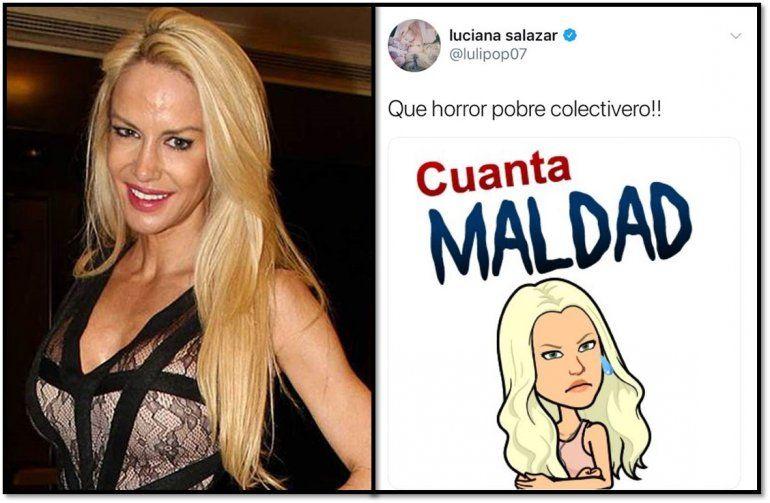 Luciana Salazar no está bien: puso una caricatura y la frase Cuanta maldad por el asesinato  del colectivero