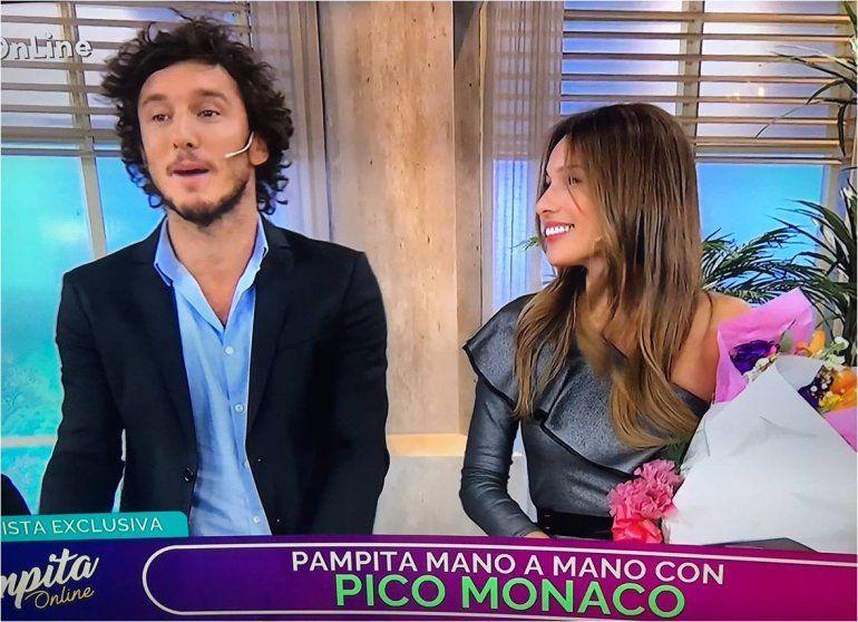 Así empezó el programa de Pampita: con Pico Mónaco de invitado, polémica por el perro y ¿con cuánto rating?