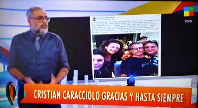 El adiós de Rial a Cristian Caracciolo, el camárografo de Intrusos: Lo veo y no lo puedo creer