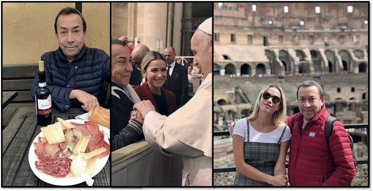 Después de confesar que tiene cáncer, Pachano viajó con su hija a ver al Papa Francisco
