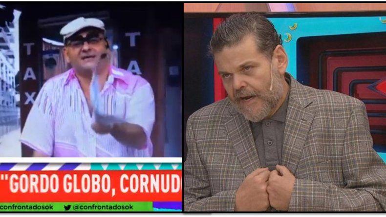 Casero se metió con los uruguayos y en un programa de tv le dijeron: Gordo globo, cornudo y facho