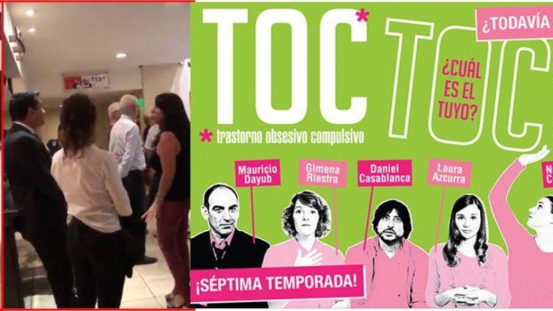 Escándalo en la función de Toc Toc