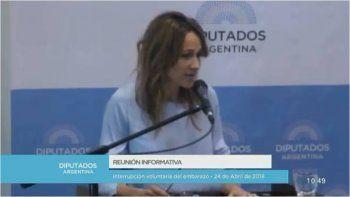 Continúa el debate por la despenalización del aborto: hoy expuso Verónica Lozano