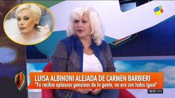 Luisa Albinoni  y su relación con Carmen Barbieri: Para ella somos todos culpables