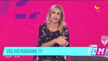 Volvió Mariana Fabbiani: Cuando me despedí de mi hijo tuve la fantasía de una despedida