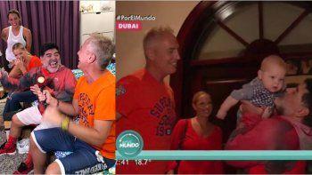 Maradona recibió a Marley y a Mirko en su casa en Dubai: toda la intimidad de la nota