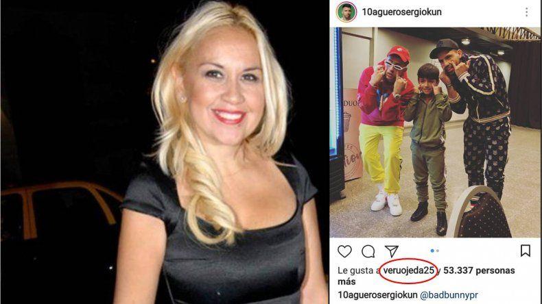 Verónica Ojeda le dio like al Kun Agüero y sigue provocando a Maradona