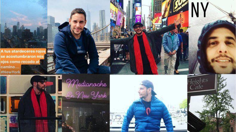 Las increíbles vacaciones de Rodrigo Lussich en New York