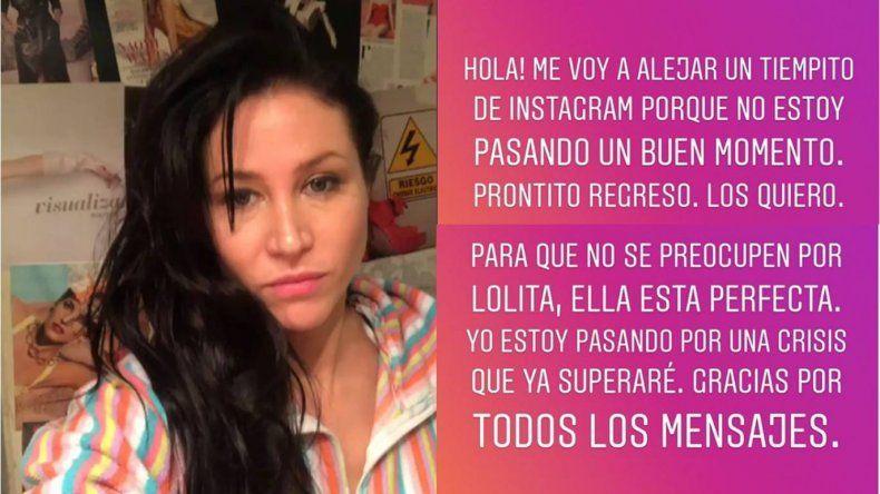 A días de ser madre, el misterioso mensaje de exilio de Adabel Guerrero: ¿crisis con su pareja o posparto?