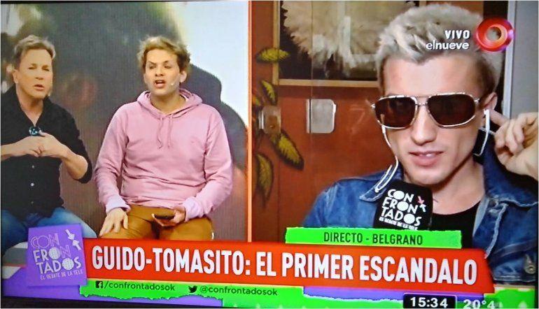Explosivo cruce entre Guido Süller, Tomasito y el joven que quiso impedir su casamiento: Es un trepador