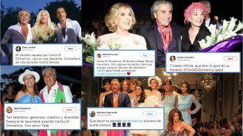 los famosos despiden a carlos di domenico en las redes, el favorito de las celebridades argentinas