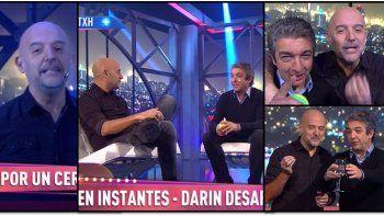 Así arrancó el nuevo programa del Pelado López con Darín como invitado: ¿Cuánto midió?