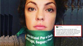 Dolores Fonzi pide a las mujeres ir de verde al Martín Fierro para apoyar el aborto legal