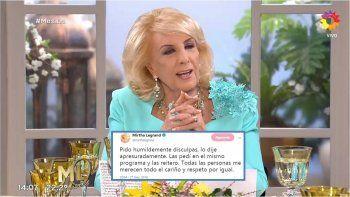 Mirtha pidió disculpas en las redes por su comentario homofóbico contra Manuel Belgrano