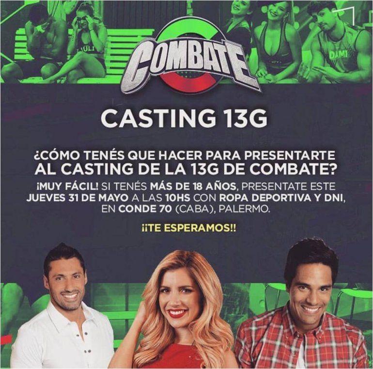 Combate abre un nuevo casting: no te pierdas ser parte de la 13G