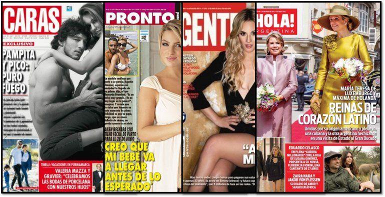 Pampita y Pico Mónaco otra vez desnudos y todas las tapas de la semana