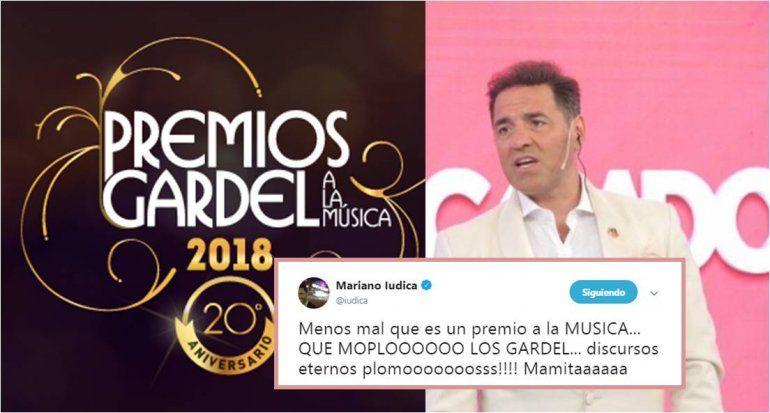 Mariano Iúdica, contra los Gardel: Qué moplo los premios