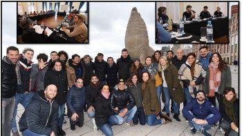 Marcelo Tinelli reunió a su equipo en Mdq para armar el Bailando incluído su hijo Francisco