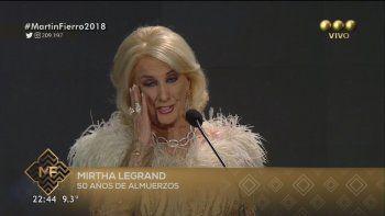 Mirtha Legrand y el momento más emocionante de la noche