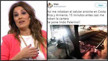 Robaron a Maju Lozano en pleno Palermo: el video del momento