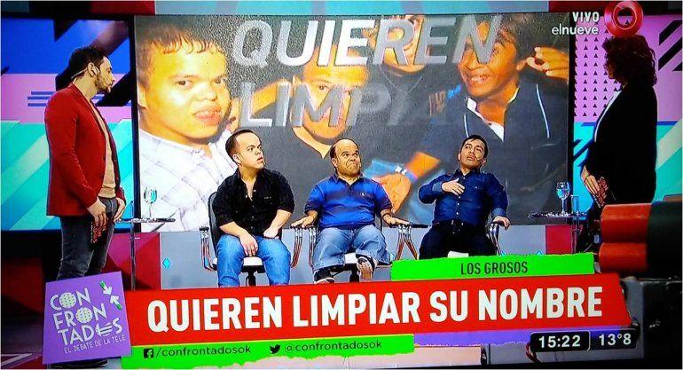 Tras la detención del enano narco; Los Grosos volvieron a la televisión a limpiar su imagen