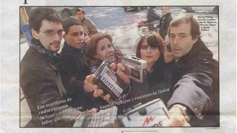 Mirá la foto retro que subió un conductor para festejar el Día del Periodista