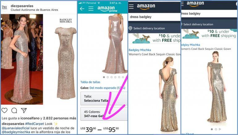 Juanita Viale y la saga del vestido maldito: ¿Usó en los Martín Fierro uno que compró en Amazon a 600 dólares?