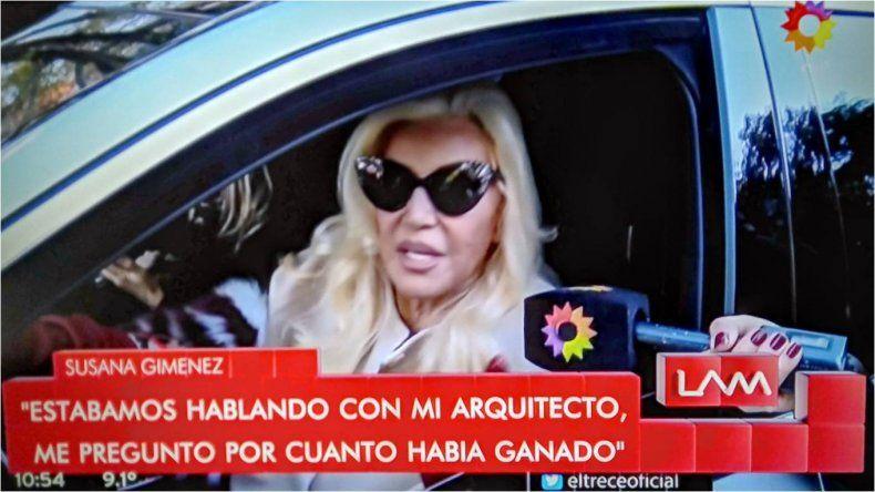 Susana explicó su frase Tinelli no es querido en la torpe transmisión de Instagram que hizo