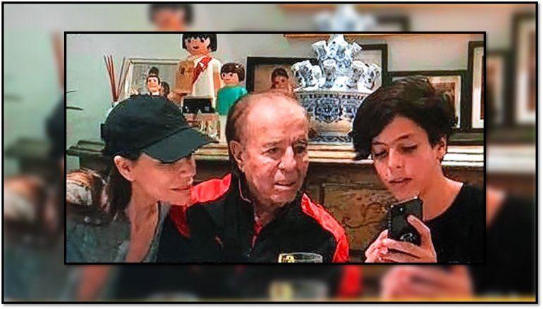 El hijo de Menem y Bolocco, Máximo, está en Buenos Aires: fue a un asado familiar y después los plantó