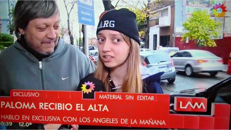Después de días difíciles, Paloma, la hija de Marisa Brel, recibió el alta: Mis papás estaban peor que yo