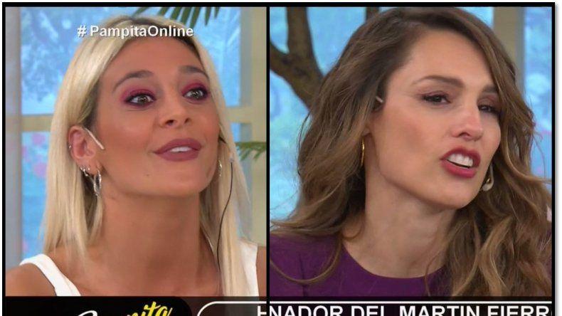 Sol Pérez y su reproche a Pampita al aire: No me gusta que me corten en el tema