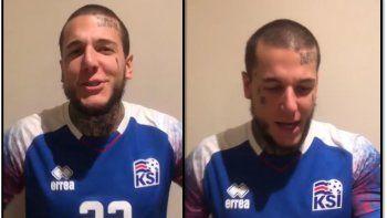 Insólito video de Alex Caniggia alentando a la selección