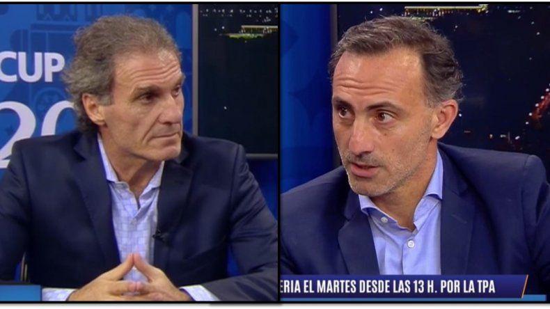 Oscar Ruggeri y Diego Latorre: tensión al aire durante el programa en la TV Pública