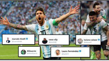Rusia 2018: el festejo de los famosos por la clasificación de Argentina a octavos