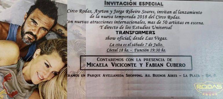 Viciconte y Cubero ya son rubro artístico: los anuncian juntos en el Circo Rodas