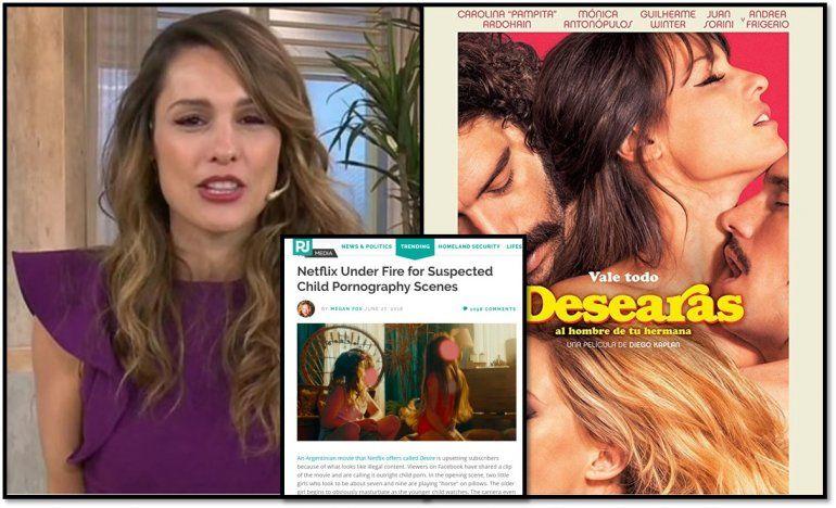 Todo mal para Pampita: denuncian su película por pornografía infantil y le sacaron los viernes en Telefe