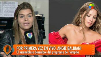 angie balbiani confirmo su distanciamiento de pampita: me dijo que necesitaba tiempo
