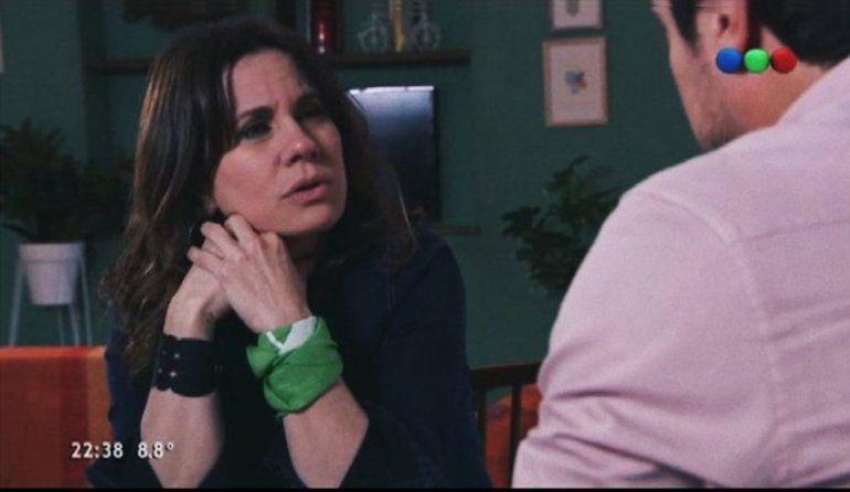 100 días para enamorarse: Nancy Dupláa contestó a las críticas por ponerse el pañuelo verde pro aborto