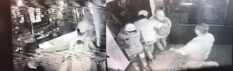 La imagen de las cámaras de seguridad del boliche Pinar de Rocha cuando entraba Pity Alvarez