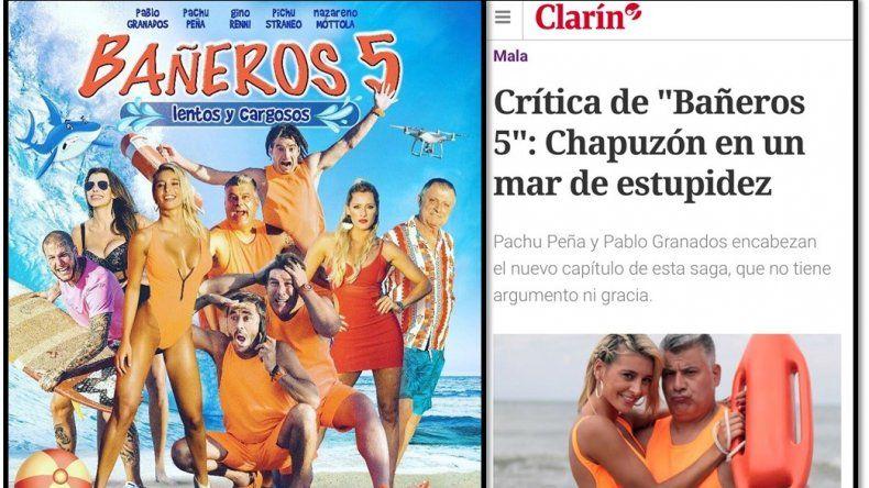 Clarín y la crítica vs Bañeros 5: las críticas reventaron a la película; la califican de berreta y una nueva estafa al público