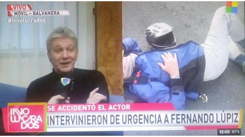Fernando Lupiz habló luego del terrible accidente con su moto: Me salvé de milagro