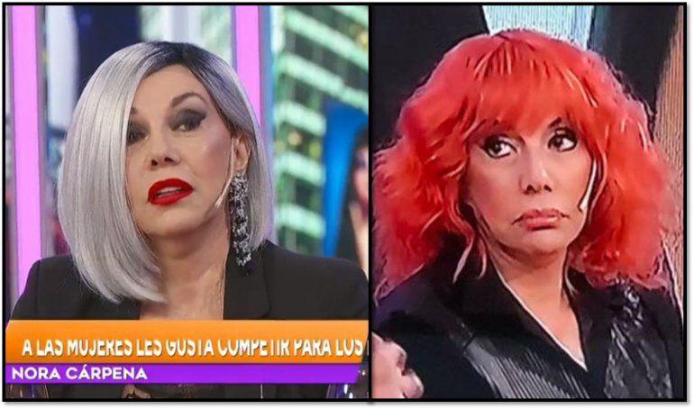 Los insólitos looks de Nora Cárpena, la nueva mediática de la tele